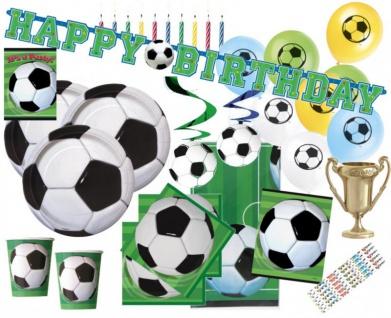XXL 93 Teile Fußball Party Deko Set für 8 Personen