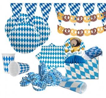 XXL 51 Teile Bavaria Party Deko Set Oktoberfest für 10 Personen - Vorschau 1