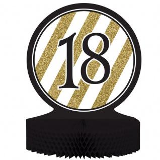 Tischaufsteller 18. Geburtstag Black and Gold