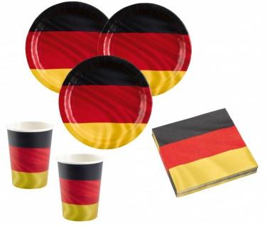 8 Papp Becher Deutschland Flagge - Vorschau 2