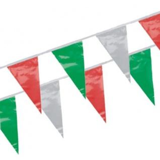 Wimpelkette in Rot Weiß Grün 7 Meter