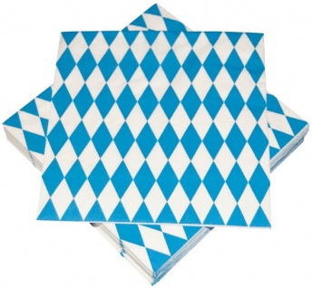 100 Servietten Bavaria Oktoberfest Bayrisch Blau - 3-lagig