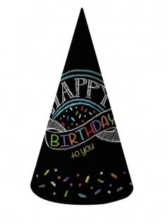 8 Party Hütchen Kreidetafel
