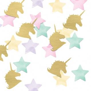 Konfetti für die Baby Einhorn Party