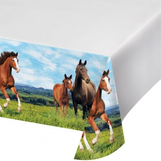 Plastik Tischdecke Wilde Pferde