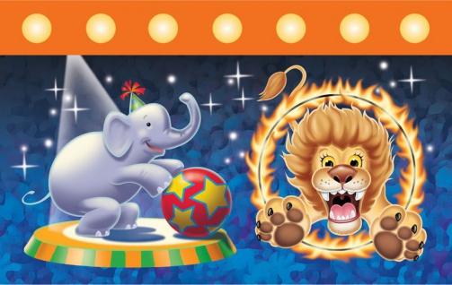 Tischdecke Zirkus Party