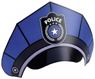 8 Polizei Party Hütchen in Polizeimützen Form