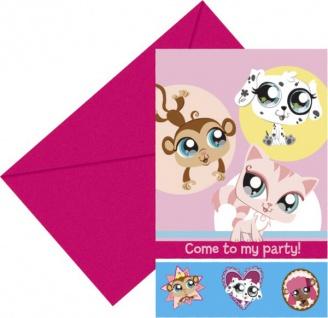 6 Littlest Pet Shop Einladungskarten