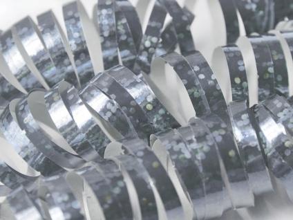 Holo Glitzer Luftschlangen Silber