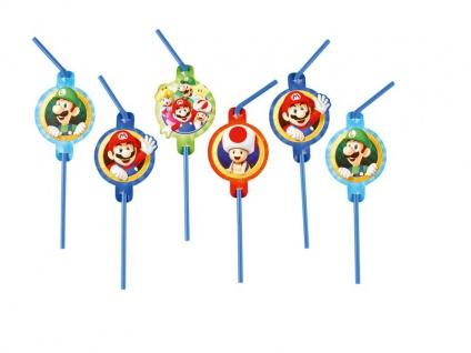8 Trinkhalme Super Mario