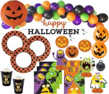 XXL 110 Teile Halloween Deko Set kleine Monster für 16 Kinder
