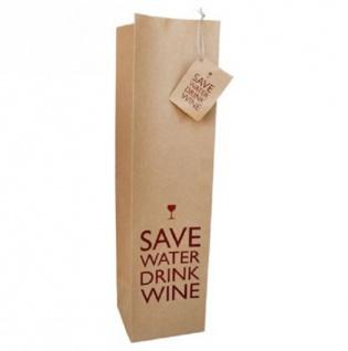 Save Water - Flaschentüte aus Packpapier