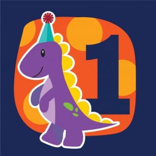 16 Erster Geburtstags Servietten kleiner Dinosaurier - Vorschau 1