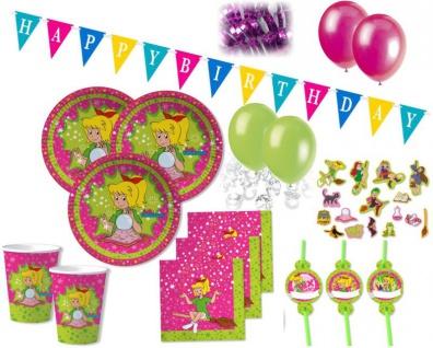 94 Teile Bibi Blocksberg Party Deko Basis Set - für 8 Kinder