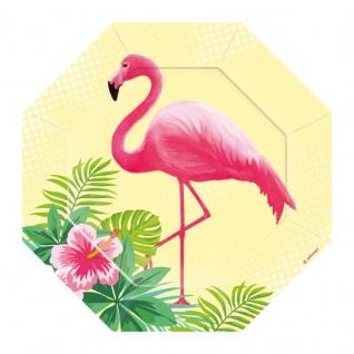 8 kleine geformte Teller Flamingo Paradies
