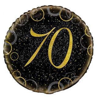 70. Geburtstag Folien Ballon Schwarz Gold