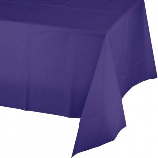 Plastik Tischdecke in Violett