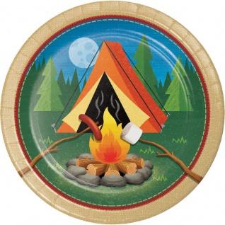 8 Papp Teller Lagerfeuer, Zelten und Angeln