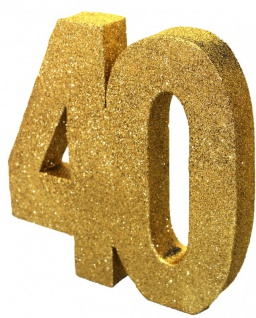 30 Teile Set zum 40. Geburtstag oder Jubiläum - Party Deko in Schwarz & Gold - Vorschau 2