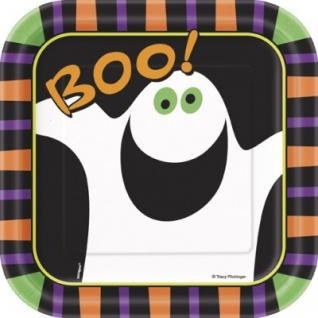10 kleine Teller Kürbis Boo!