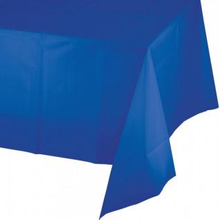 Plastik Tischdecke in Cobalt Blau