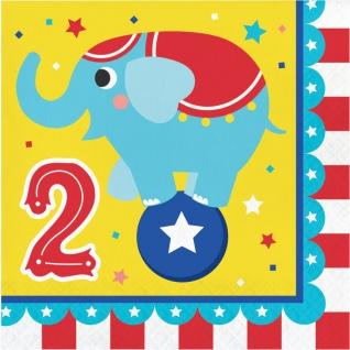 Zirkus Party Set zum 2. Geburtstag 8 Personen - 32 Teile - Vorschau 3