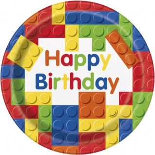 48 Teile Bausteine Geburtstags Party Set für 16 Kinder - Vorschau 2