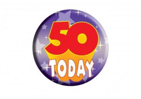 Geburtstags Button 50