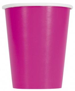 100 Teile Party Deko Set Neon Pink für 28 Personen - Vorschau 3