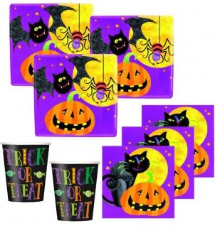 48 Teile kleines Fingerfood Halloween Deko Set Grusel Freunde für 16 Kinder