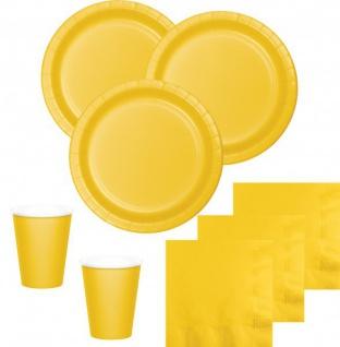 52 Teile Party Deko Set Sonnen Gelb für 16 Personen