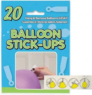 20 Ballon Stick Up Klebestreifen
