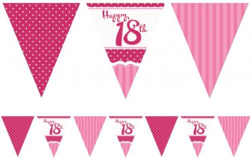 58 Teile zum 18. Geburtstag Party Set Perfectly Pink für 16 Personen - Vorschau 5