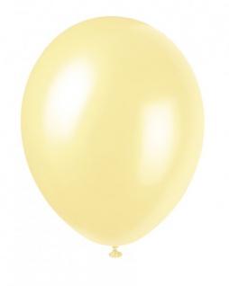 8 Luftballons Elfenbein Metallic