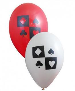 6 Luftballons Poker oder Spielkarten