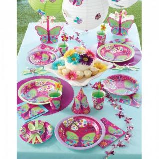 32 Teile Schmetterling in Pink Geburtstags Deko Set für 8 Personen - Vorschau 5