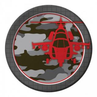8 Papp Teller Camouflage im Einsatz