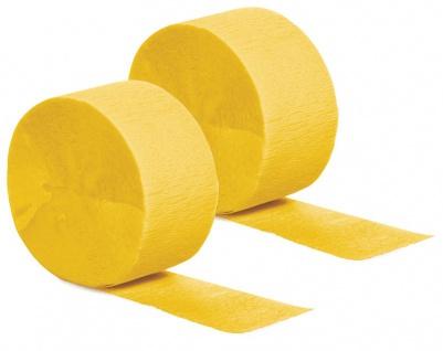 2 Rollen Kreppband in Sonnen Gelb
