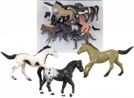 10 kleine Plastik Pferde