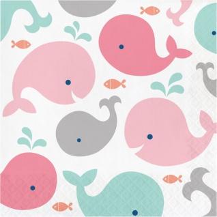16 Servietten Happy Baby Wal Party Pink