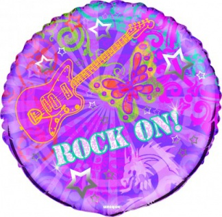 Rock On Folien Ballon