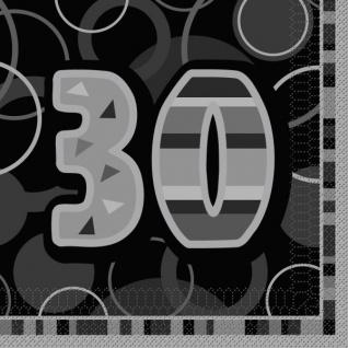 30. Geburtstag Party Servietten Schwarz