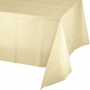 Plastik Tischdecke Elfenbein oder Creme