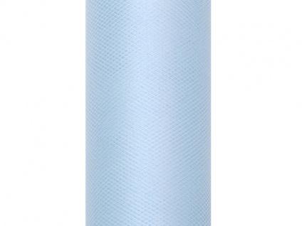 Tüll Tischläufer Pastell Blau 0, 15 x 9m