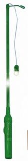 Elektrischer Laternenstab Grün mit Blinklicht