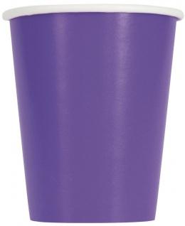 14 Papp Becher Neon Violett 266ml
