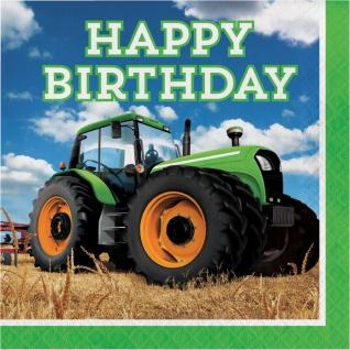 16 Geburtstags Servietten Traktor Party
