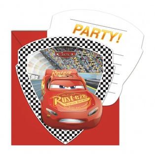 6 Einladungskarten Cars 3