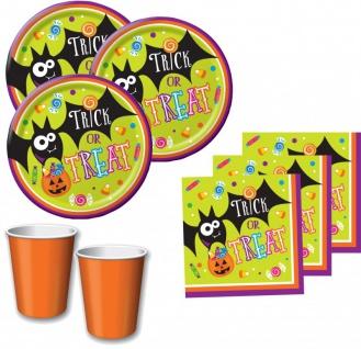 48 Teile Halloween Deko Set Halloween Sweets - Süßes oder Saures 16 Personen