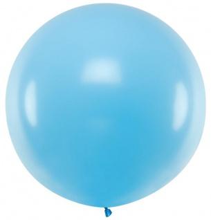 XXL Luftballon Flying Giant in Hellblau 1m